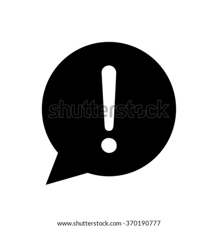 Exclamation mark icon in circle - stock vector