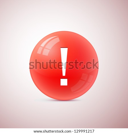 exclamation mark symbol - stock vector