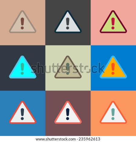 Exclamation Sign. Vector - stock vector