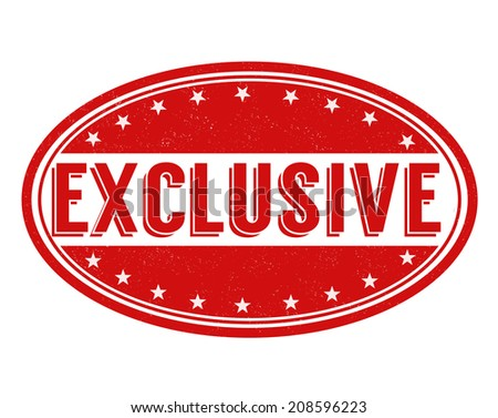 Exclusive grunge rubber stamp on white, vector illustration - stock vector