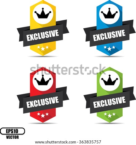 Exclusive label and sign - Vector illustration - stock vector