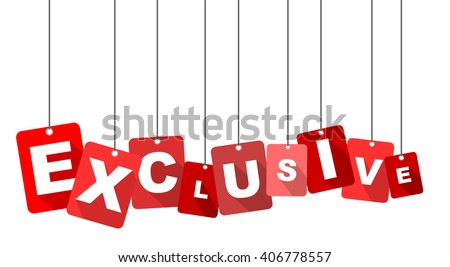 exclusive, red vector exclusive, flat tag exclusive, element exclusive, sign exclusive, design exclusive, background exclusive, illustration exclusive, picture exclusive, exclusive eps10 - stock vector