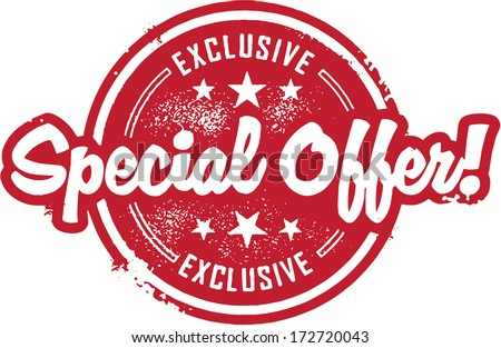 Exclusive Special Offer Sale Stamp - stock vector