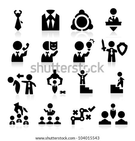 Executive icons set Elegant series - stock vector