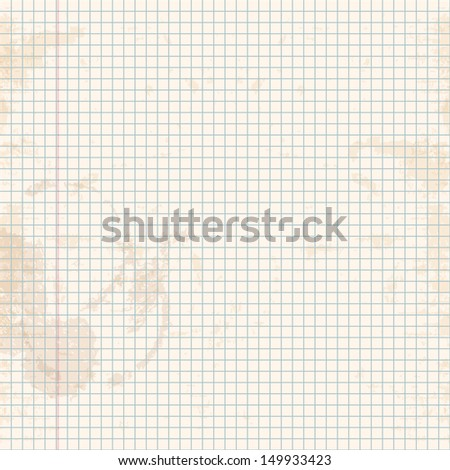 Exercise book in a cage. Vector illustration. - stock vector