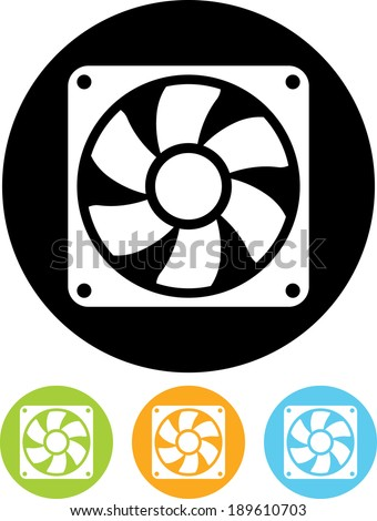 Exhaust fan vector icon - stock vector