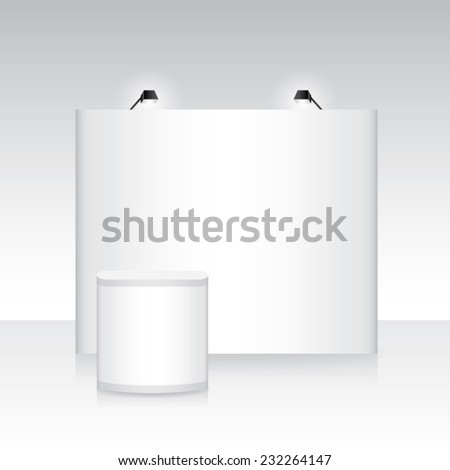 exhibition backdrop stand banner booth - stock vector