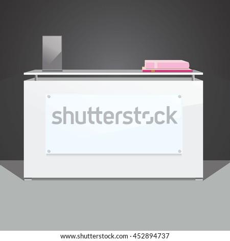 Exhibition stand, reception desk - stock vector