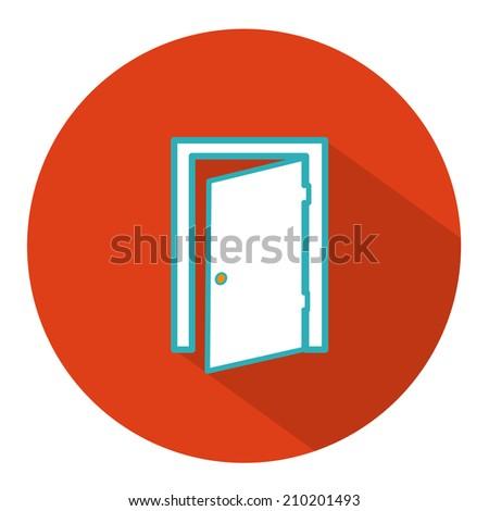 exit door icon - stock vector