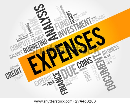 EXPENSES word cloud, business concept - stock vector