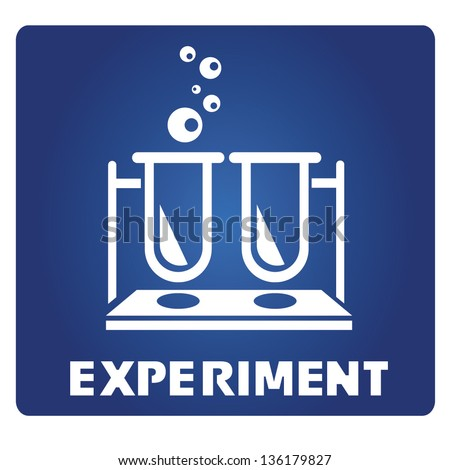 experiment - stock vector