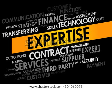 Expertise words cloud, business concept - stock vector