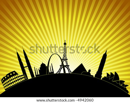 Explore Your World - stock vector