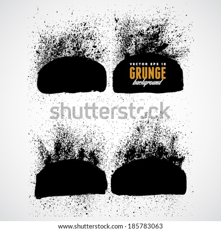 Explosion dirt in grunge style - stock vector