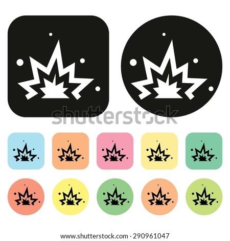 Explosion icon. Bomb icon. Vector - stock vector