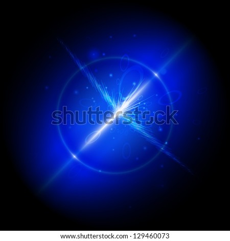 Explosion of a star - stock vector