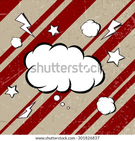 Explosion steam bubble pop art vector - funny funky banner comics background. this also represents a big bang, thunder, emphatic explosion, roaring voice - stock vector