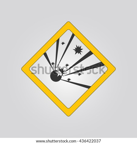 explosives sign. warning. icon - stock vector