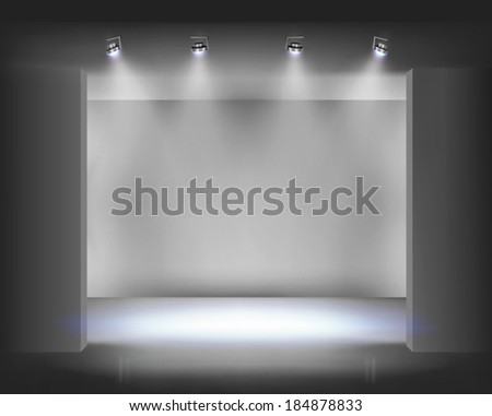 Exposition display. Vector illustration. - stock vector