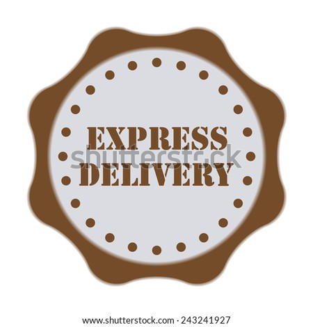 Express delivery badge or stamp isolated on white background. Vector illustration. - stock vector