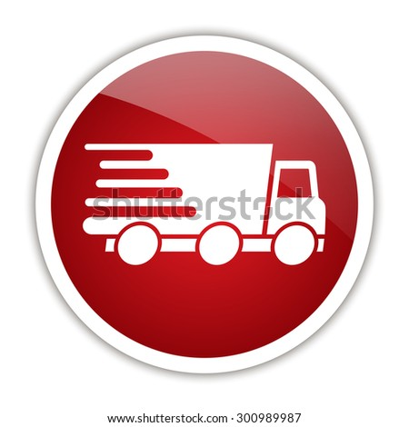 Express delivery icon. Delivery car. - stock vector
