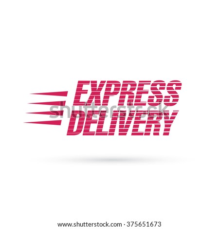 express delivery lettering - stock vector