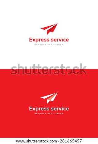 Express service logo teamplate. - stock vector
