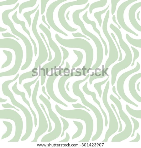 Expressive seamless zebra pattern. Safari collection. Abstract vector background. Light green on white. Backgrounds & textures shop. - stock vector