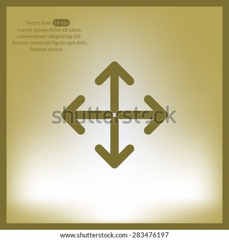 Extend, Re-size, Enlarge. Vector illustration - stock vector