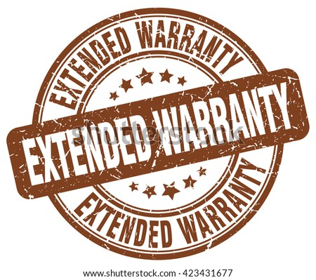extended warranty brown grunge round vintage rubber stamp.extended warranty stamp.extended warranty round stamp.extended warranty grunge stamp.extended warranty.extended warranty vintage stamp. - stock vector
