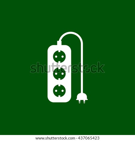 extension cord icon. extension cord sign - stock vector