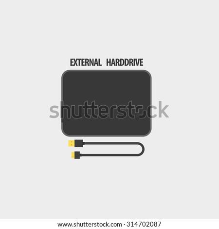 External Harddrive Vector Icon - stock vector