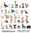 Extra large set of animals - stock vector