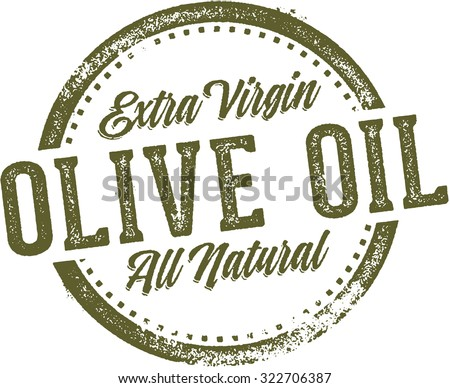 Extra Virgin Olive Oil Product or Menu Stamp - stock vector
