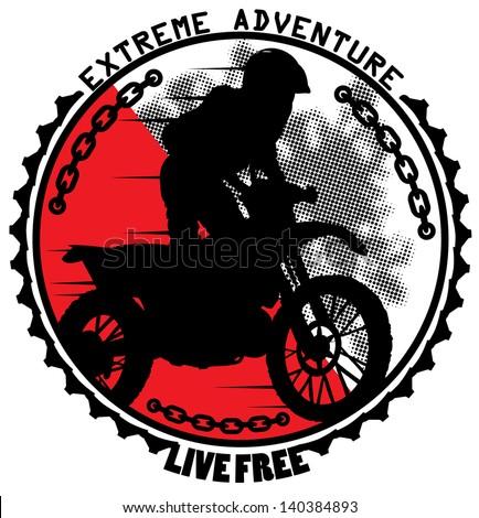 Extreme adventure - stock vector
