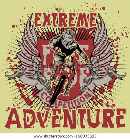 Extreme adventure - stock vector
