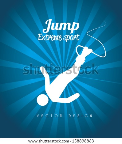 extreme sport over blue background vector illustration - stock vector
