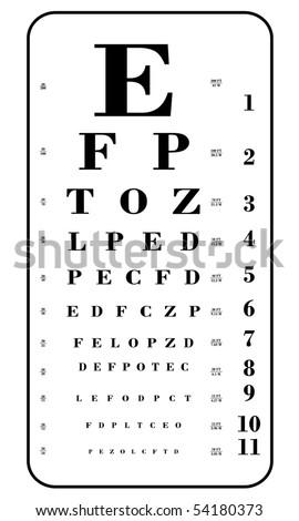 eye chart vector illustration - stock vector