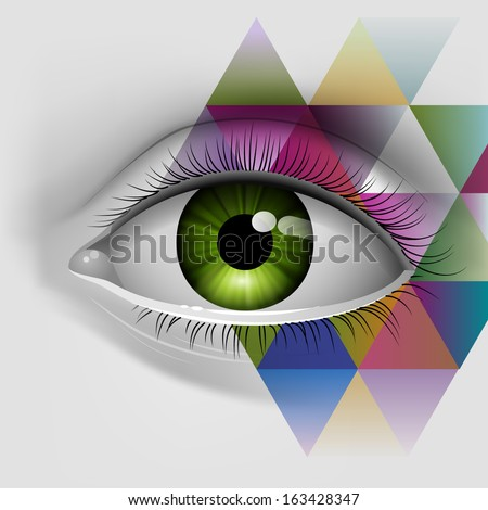 Eye, eps10 vector - stock vector