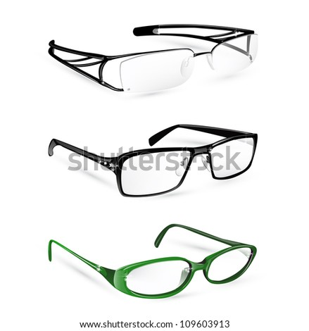 Eye glasses and spectacles set eps10 - stock vector