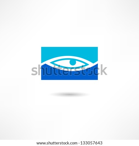 eye icon - stock vector