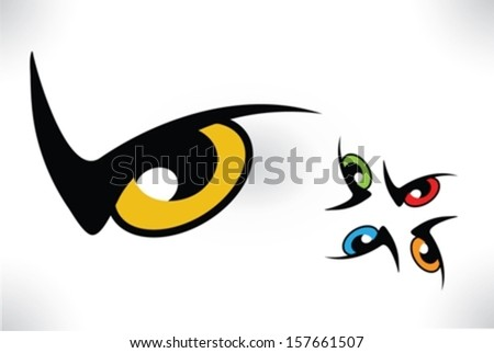 Eye isolated - stock vector