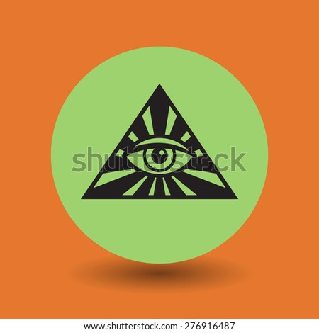 Eye Of Providence symbol, vector illustration - stock vector