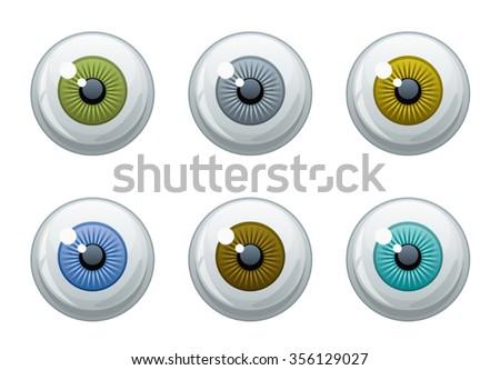 Eye set - stock vector