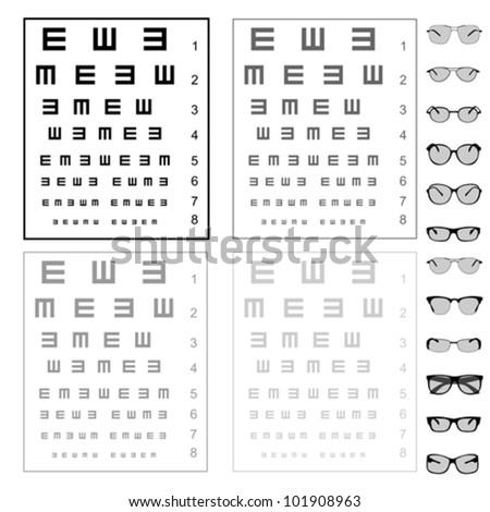 eye reading test images