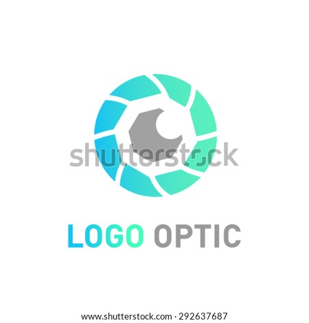 Eye vector logo design template.  - stock vector
