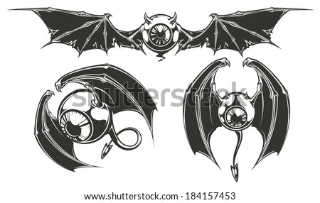 Eyes with wings - stock vector