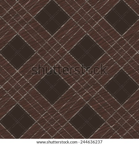 Fabric with scratch lines. Abstract Seamless Pattern. Surface texture. Grungy tartan. Brush strokes. Pattern fills. Abstract backdrop. Simple checkered template. - stock vector