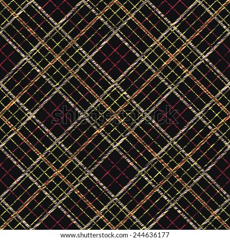 Fabric with scratch lines. Abstract Seamless Pattern. Surface texture. Seamless pattern for wallpaper, web page background, surface textures. Simple checkered template. - stock vector