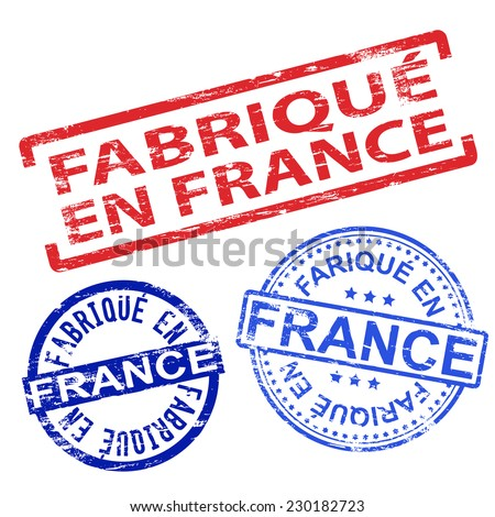 Fabrique en France. Rubber stamp vector illustrations  - stock vector